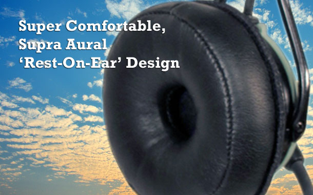 Super Comfortable, Supra Aural 'Rest on Ear' Design
